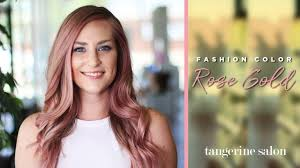 <b>Rose Gold</b> - <b>Fashion Color</b> Hair Tutorial - Aveda Hair <b>Color</b> - YouTube