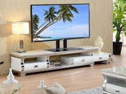 tv stand with glass base height adjule 32 70