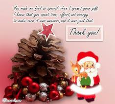 Christmas Gift Thank You Free Holiday Thank You Ecards