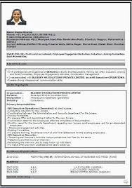 New Resume Format 2014 Download Resume Formatn Ms Word For Fresher