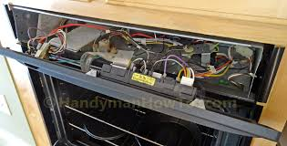 how to replace a built in oven fan ge wall oven fan repair open the control panel