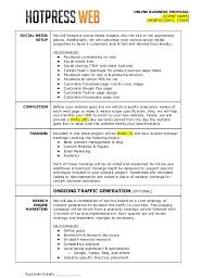 Media Proposal Template. social media marketing plan sample ...