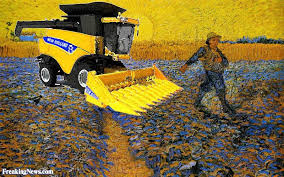 new holland farm machinery in vincent van gogh painting