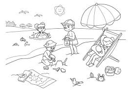 Small Picture Children Enjoying Hawaiin Beach Coloring Page NetArt