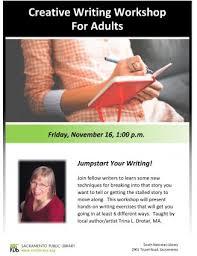 jumpstart your writing presented by sacramento public library community sacramento365