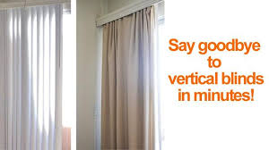vertical blinds and curtains. Brilliant Blinds How To Conceal Vertical Blinds With Curtains  Smart DIY Solutions For  Renters In Vertical Blinds And Curtains L
