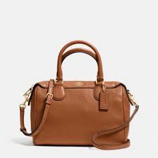 Coach Mini Bennett Satchel Medium Shoulder Bag Crossbody Leather Saddle  Brown  Coach  Satchel