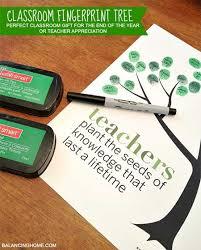teacher appreciation gifts fingerprint tree north texas kids