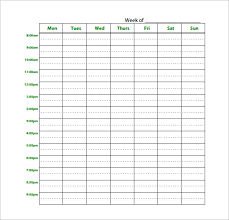Weekly Timetable Planner 19 Study Schedule Templates Pdf Docs Free Premium
