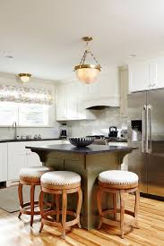 unique small kitchen island ideas wod floor stools hanging lamp traditional room window faucet wall cabinets