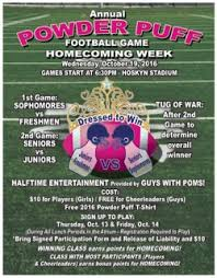 powder puff football flyers homecoming 2016