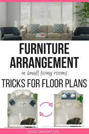 Furniture and living rooms Chairs Furniture Arrangement Tips In Small Living Room Picture Of Overhead Furniture Layout And Beige Sofa Diy Decor Mom Small Living Room Furniture Arrangement Useful Furniture Arranging