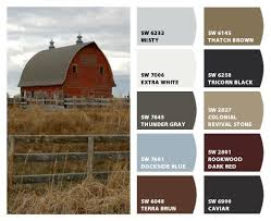 exterior paint color combinations with stone. historic farm color palette- inspiration for exterior home scheme, stone accents, and paint combinations with