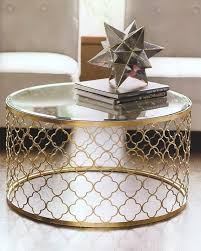 round shape with gold paint gold and glass round coffee table ideas free ideas