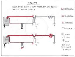 double relay article itinerant air cooled in german car wiring diagrams 30 is used not only on relays but any time a wire is hot if your battery is hooked up and charged expect full voltage