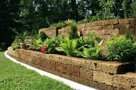 garden wall ideas the stones used to create these terraces and retaining walls are speckled with garden wall ideas