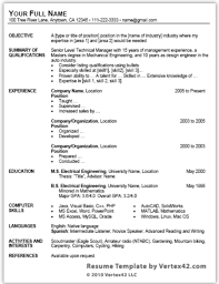 Word Resume Template 2013