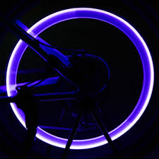 Valve Stem Lights For Cars 2 Pcs Stainless Steel Bicycle Led Neon Lamp Valve Stem Light Bicycle Wheel Tire Cap Car Flash Tyre Light Colorful Wheel Lights