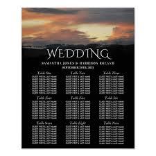 Mountain Sunrise Modern Wedding Seating Chart