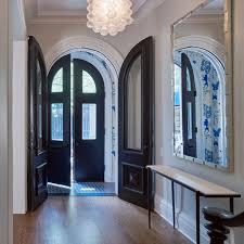 vestibule wallpaper and floor tile  Townhouse InteriorFront Door ...