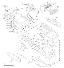 Ge model t26sgpbkss side by side refrigerator genuine parts