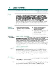 Gallery Of Teacher Resume Objective Sample Best Resume Collection