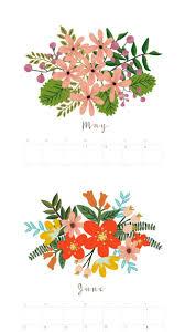 3d Paper Flower Calendar Beautiful Floral 2020 Calendar Monthly Planner Free