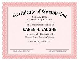 Certificate Of Training Completion Template Certificate Of Training Completion Template Soulective Co