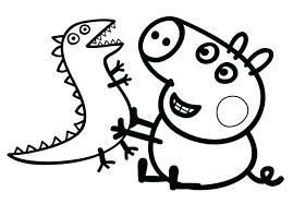 Peppa Pig Coloring Page Avusturyavizesiinfo
