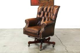 vintage office chair leather desk tufted supply uk