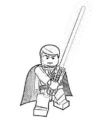 Small Picture Star Wars Lego Coloring Pages Luke Coloring Page Cartoon