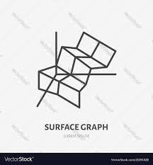 Financial Analysis Flat Logo Surface Chart Graph