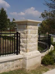 wrought iron fence brick. And Metal Fence Cement Brick Columns Ideas Natural Fencing On Stone Knee Wall Between Wrought Iron