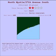 north myrtle 27th avenue south surf forecast and surf