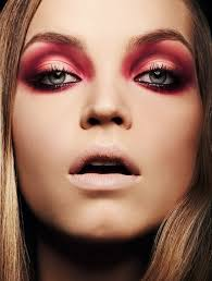 image del for stunning and fierce red smoky eye makeup photographer williams bonbon