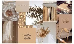 beige #aesthetic #wallpaper #desktop ...