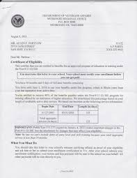 Gi Bill Eligibility Letter Articleezinedirectory