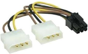 <b>Кабель питания Gembird</b> 2хMolex->PCI-E 6pin CC-PSU-6 | купить ...