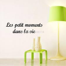 Small Quotes Mesmerizing Aliexpress Buy French Quote The Small Moments Life Wall