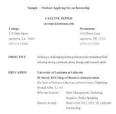 Resume For Internships Sample Resume For Internships Internship Placement Resume Format