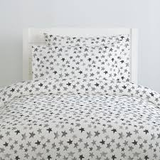 gray watercolor stars duvet cover