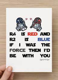All designs are exclusive to funky pigeon and feature all your favourite characters including yoda, darth vader. Star Wars Valentines Day Card R2d2 R4d4 Funny Vday Card Star Wars Valentines Nerdy Valentines Geek Valentine