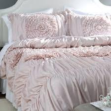 blush pink comforter set pillow and grey twin