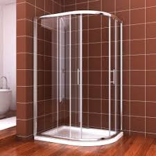 ELEGANT 900 x 700 mm Corner Entry Shower Enclosure Pivot Door Shower Cubicle  with Shower Tray