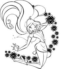 Print & Download - winx club printable coloring pages -