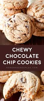 Chewy Chocolate Cookies Chewy Chocolate Chip Cookies Homemade Hooplah