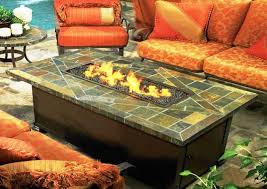 image of rectangle fire pit coffee table