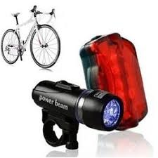 5 LED Water Resistant Bike Bicycle Head Light Rear Safety ... - Vova
