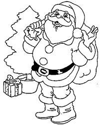 Disegno Di Babbo Natale Da Stampare Gratis E Colorare Per Bambini