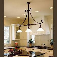 french country style kitchen with island pendant brass light gallery within lighting designs 3